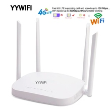 купить 4G LTE Wifi Router, 300Mbps 3G/4G Wireless CPE Router with sim card 4G LTE Router 150Mbps Wireless CPE Router 3G/4G SIM недорого