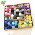 60PCS 20mm DIY wood crochet beads,27colors,Handmade beading accessory 100% cotton yarn knitted bead diy wooden beads EA230