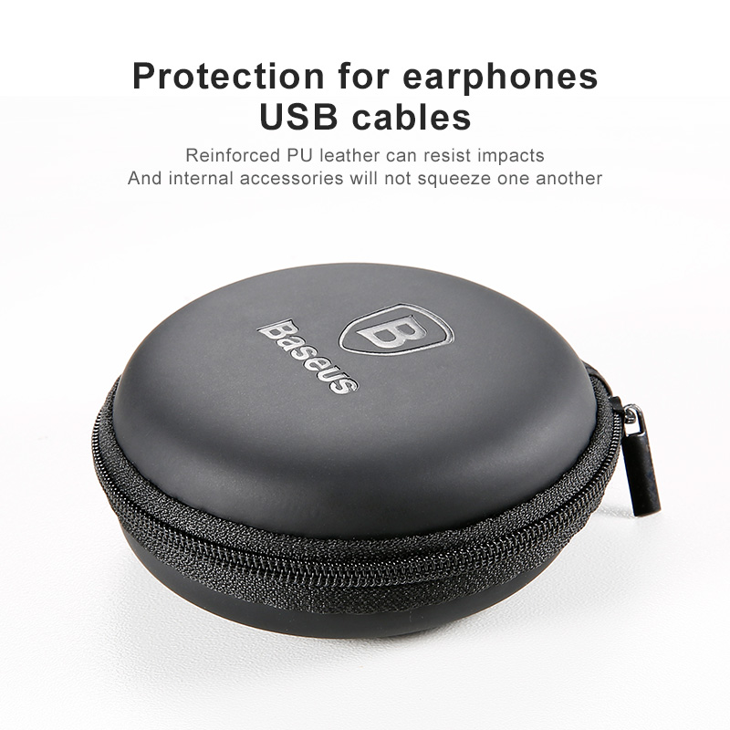 Baseus Portable Mobile phone accessories Storage package Mini case for Usb cable Hard Bag Earphone Box for charger SD TF Cards
