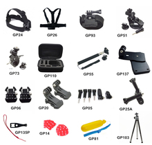 RB For GoPro Accessories Set Family Kit Go Pro SJ4000 SJ5000 SJ6000 SJCAM accessories package for GoPro HD Hero xiao yi GP-K25