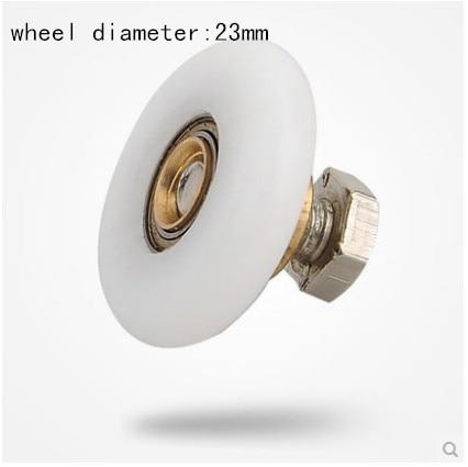 mute 8pcs hanging wheels sliding doors wheel diameter 23mm in Bath Hardware Sets from Home Improvement