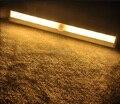 O Envio gratuito de 10 LED SMD3528 LED IR Infrared sensor de Movimento Wireless Sensor Closet Gabinete Lâmpada Luz luzes Usando bateria AAA