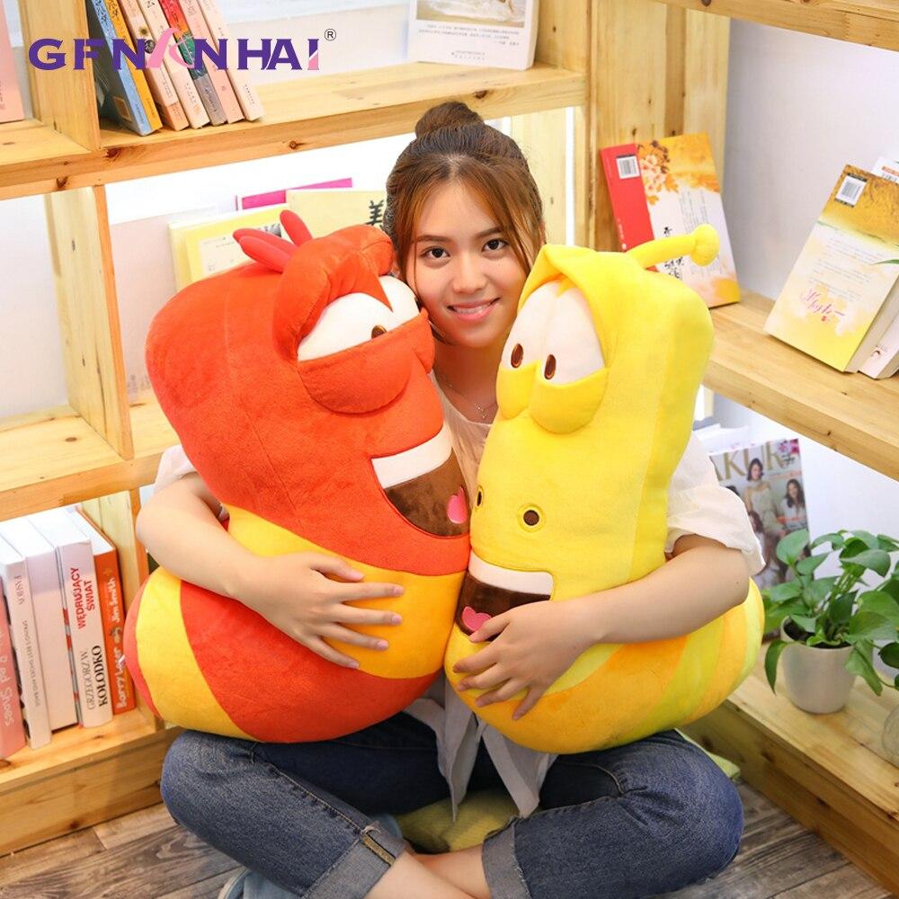Hot Anime Movie Giant Size Insect Slug Creative Larva Plush Toy Stuffed Soft Cartoon Pillow Children Kids Christmas Present все цены