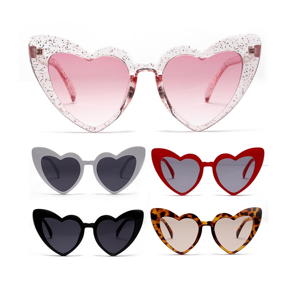Heart Sunglasses Women Brand Designer Cat Eye Sun Glasses Retro Love Heart Shaped Glasses Ladies Shopping Driver Goggles