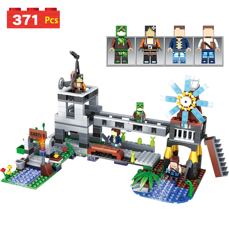 Battlefield windmill Building Blocks fortress Model Figures  Compatible With LegoINGLYs Minecrafted children birthday gift
