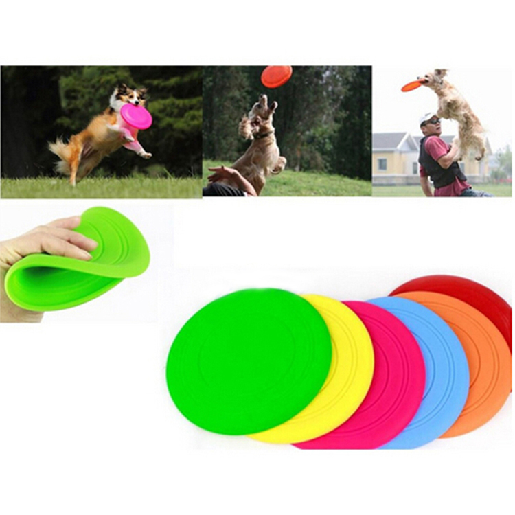 Soft Flying Flexible Disc Tooth Resistant Outdoor Large Dog Puppy Pets Training Fetch Toy Silicone Dog  Wholesale
