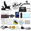 Beginner Tattoo Kit 1 Machine Professional Tattoo Video Guide LCD Power System