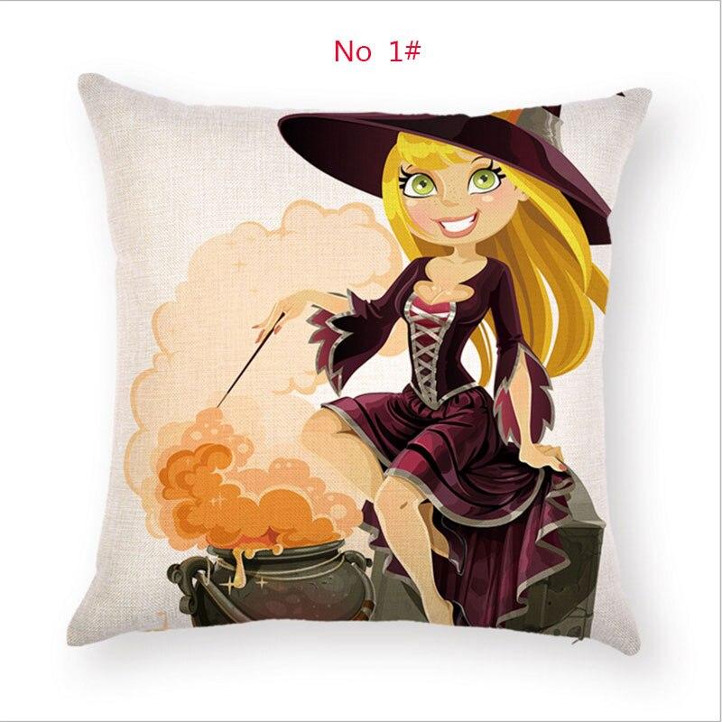 Halloween Pillow Case Ghost girl and imp Throw Pillows cover Sofa Car Cushion Cover for Home Decorative Pillowcase