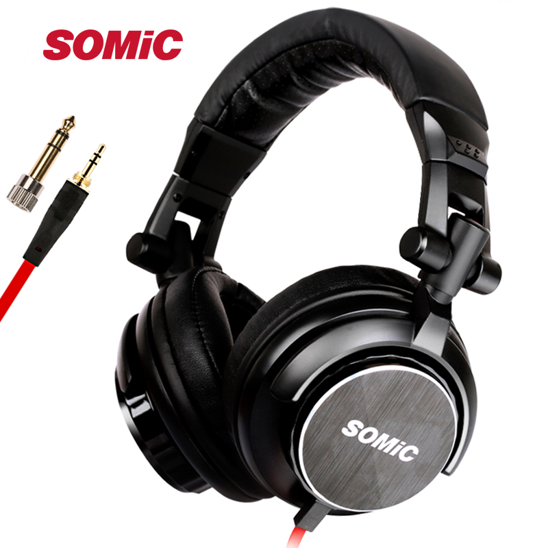 Original SOMIC MM185 Professional DJ Monitor Headphone 50mmHD Stereo Foldable Gaming Headset with 3 5mm 6