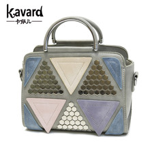 Geometric main plaid bling patchwork sac tote famous a clutch designer