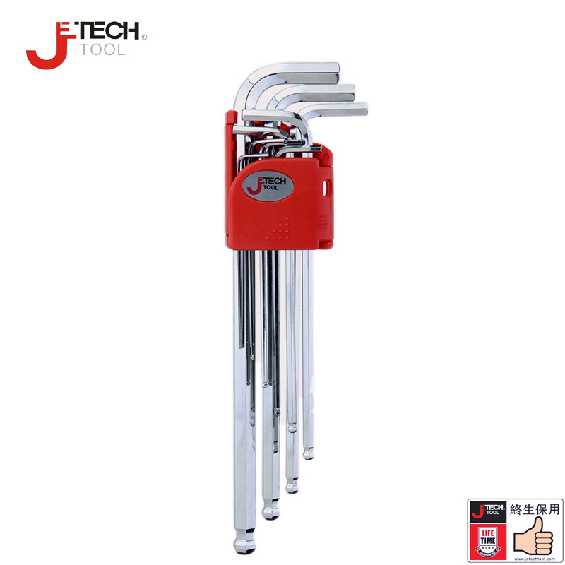 Jetech 9pcs extra long arm ball end metric imperial hex key set hexagon chaves allen key high types tool wrench set kit 1.5-10mm  цены