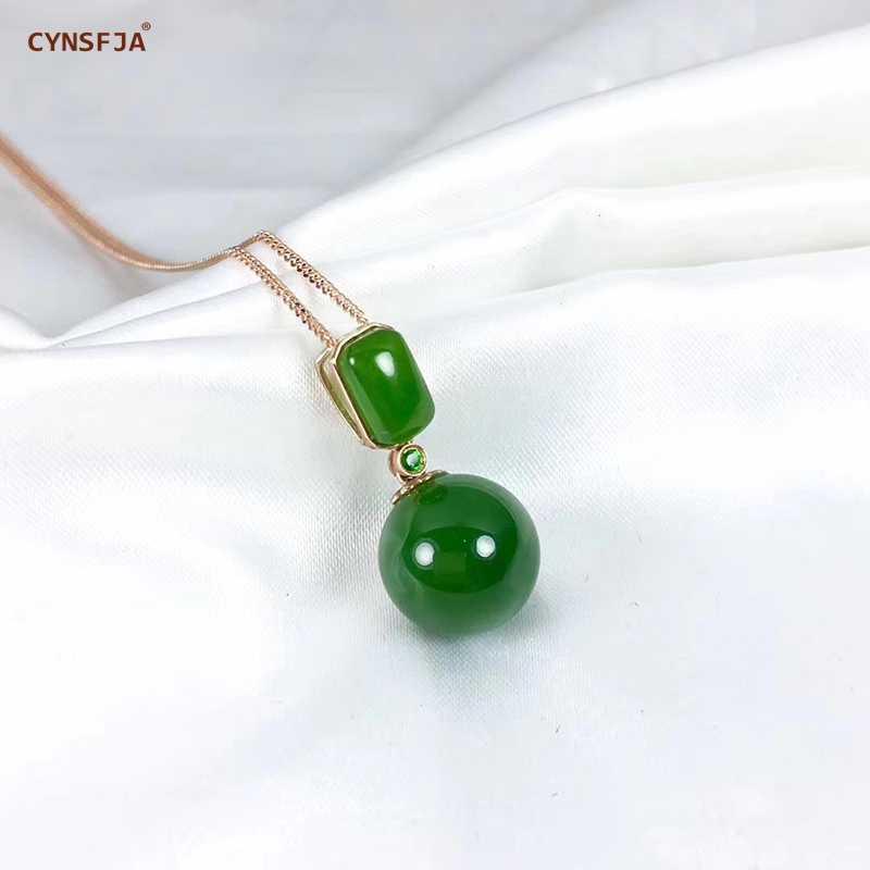 Certyfikat naturalne Hetian Jade Jasper inkrustowane z 18 K złota szczęście wisiorek z jadeitem ręcznie rzeźbione wysokiej jakości S925 naszyjnik najlepsze prezenty