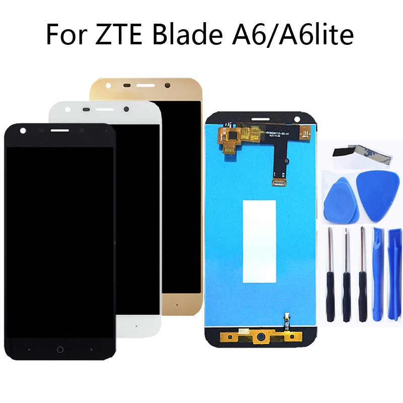 For zte blade A6 A6 lite 5.2 inch 100%tested high quality LCD display touch screen black white gold LCD display-in Mobile Phone LCD Screens from Cellphones & Telecommunications