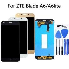 Zte blade ため A6 A6 lite 5.2 インチ 100% テスト高品質液晶ディスプレイのタッチスクリーン黒ホワイトゴールド液晶ディスプレイ