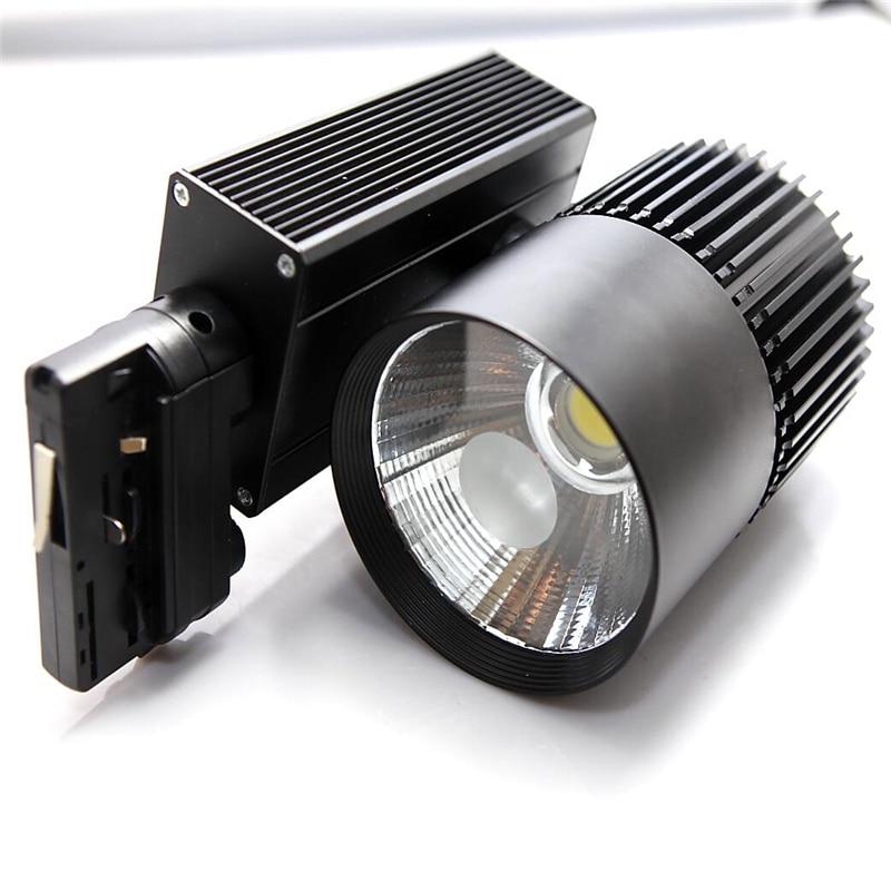 30W 4 wire COB LED Track light AC110 240V Track Lighting LED Spot Wall Lamp Rail