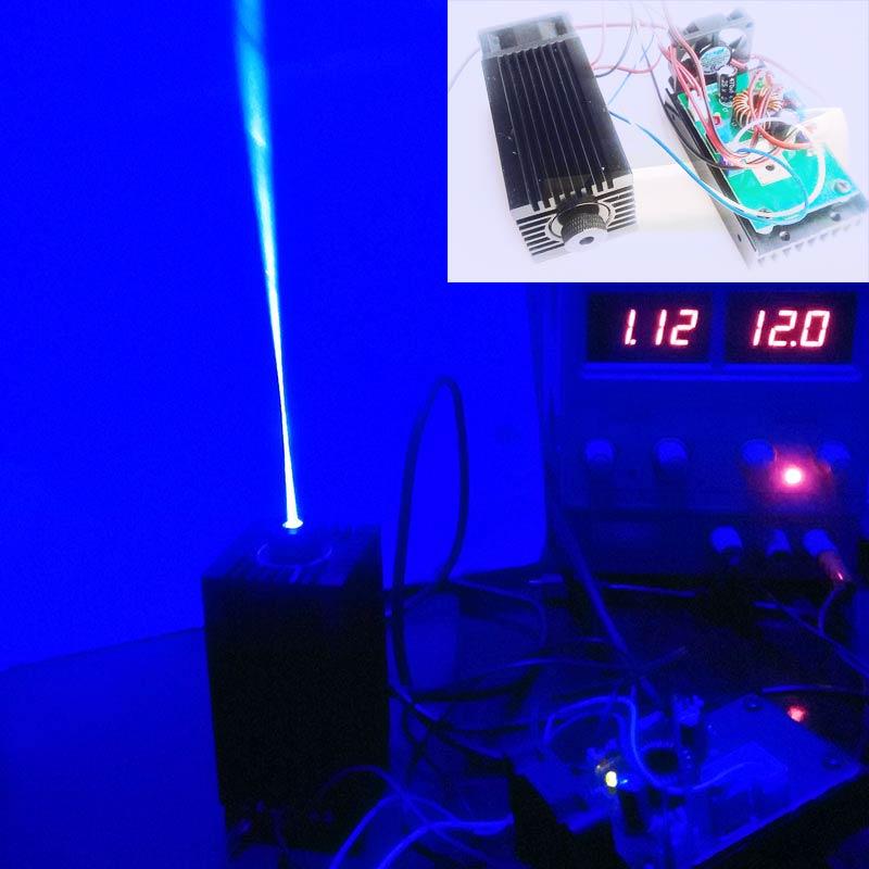 2w high power 445NM focusing blue laser module laser engraving and cutting TTL module 2000mw laser