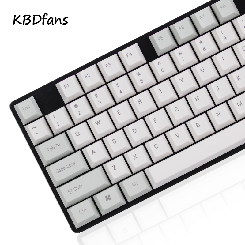 NPKC Blank side printed Cherry Profile Thick PBT Keycap ANSI ISO layout For Cherry MX Switches Mechanical Gaming Keyboard kbdfans new arrival pbt top printed keycap cherry profile 117keys 1 75shift for gaming mechanical keyboard