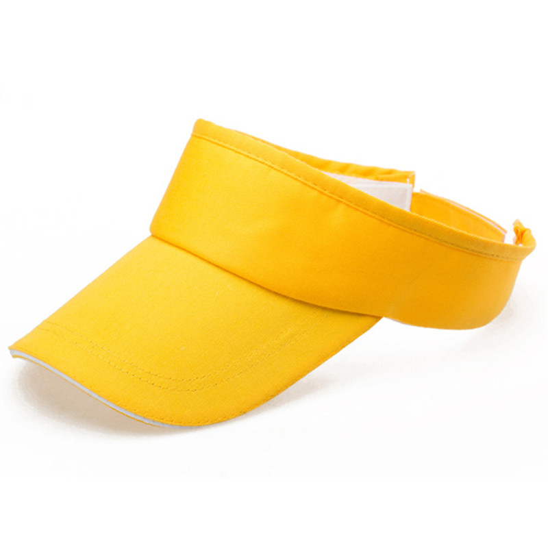 839e307f6d5 2017 Summer Unisex Visor Empty Top Elastic Band Sun Hat Brim Blank Cotton Hats  Beach UV Protection Caps For Men And Women-in Sun Hats from Apparel ...