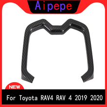 цена на For Toyota RAV4 2019 2020 Car Styling Interior Front Water Cup Holder Cover Trim ABS Plastic Auto Accessories