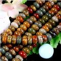 New fashion free shipping 5X8MM Multi-color Picasso Jasper Jasper s loose beads 15""