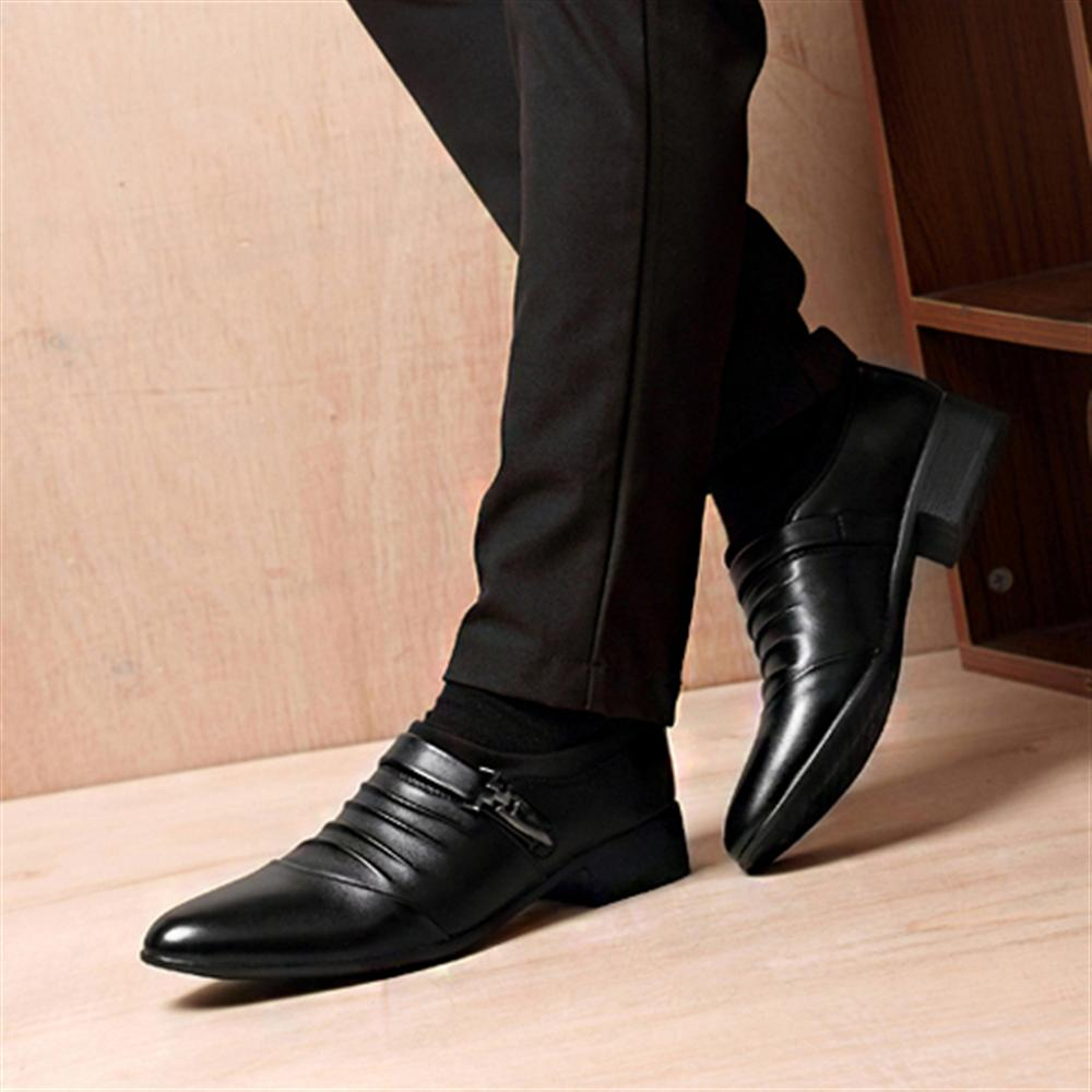 Men's Shoes Shoes Summer Mesh Spring Leather Dress Shoes Breathable Men Formal Business Oxfords Plus Size 38-48 For Sale Dress Shoes For Men Strong Resistance To Heat And Hard Wearing