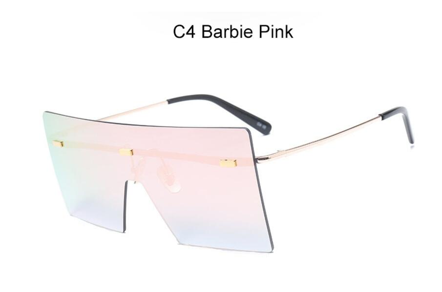 Oversize Brown Sunglasses 2020 Women Retro Vintage Sunglasses Luxury Brand Rimless Eye wear Big Shades 9
