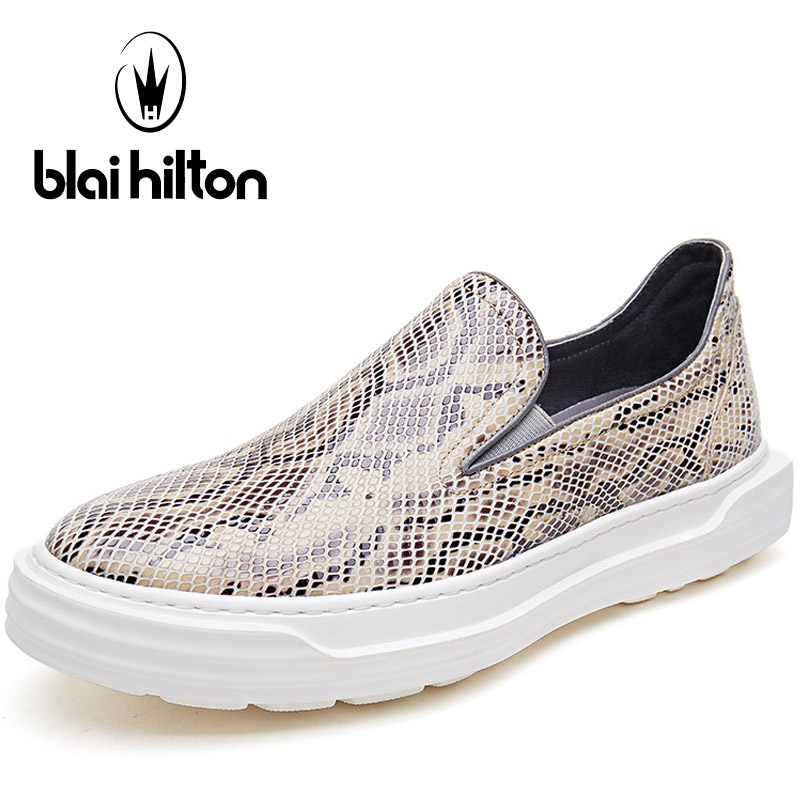 Blaibilton Genuine Leather Skateboard Shoes Man Brand Shallow Platform Men's Sneakers Light Weight Summer Sport Shoes For Men