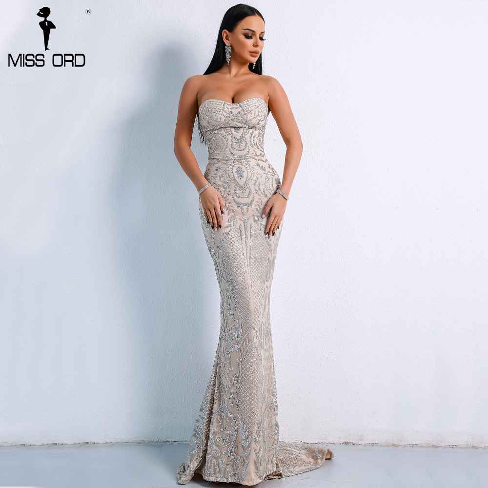 a9c3f486433 Missord 2019 Sexy Elegant Christmas Off Shoulder Glitter Backless Geometry  Female Floor-Length Party Dress