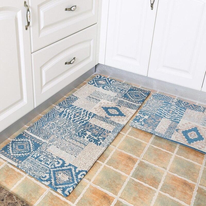 50X80 + 50X120 CM Style américain tapis de cuisine accueil entrée/couloir paillasson anti-dérapant salle de bain tapis balcon/armoire zone tapis