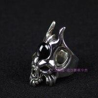 Шальная свинья череп кольцо 925 тайский серебро дьявол