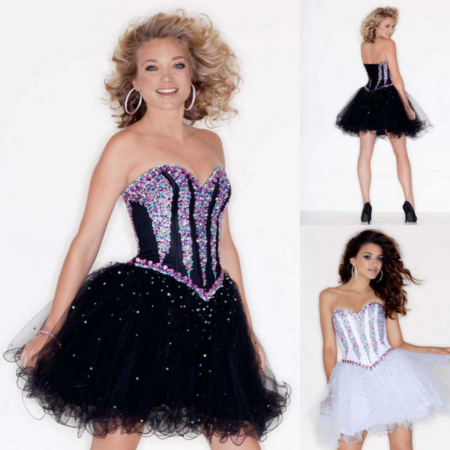 3ea44f2f888 Sexy Sweetheart Diamond Ruched Lace Up Back Tulle Rhinestone A Line Mini  Short Prom Gown Modern Homecoming Dresses Corset Dress
