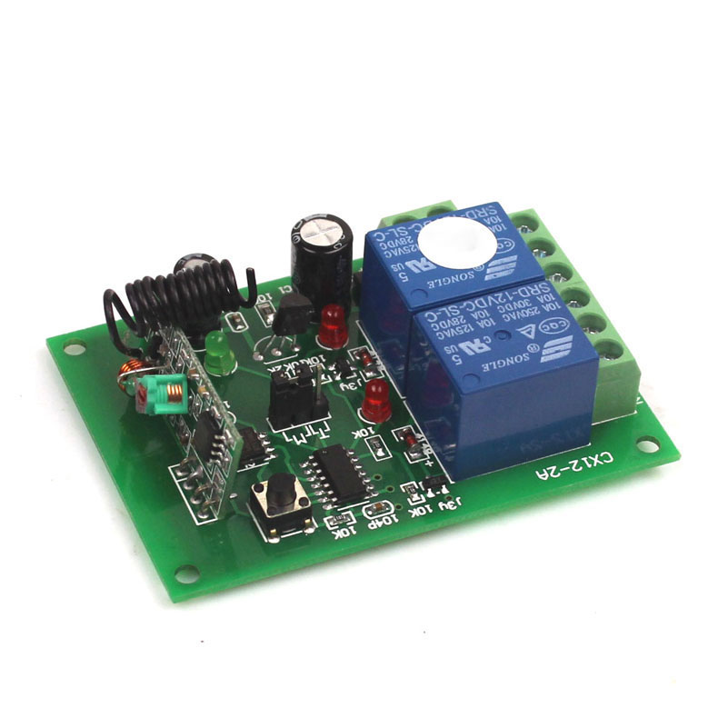 12V 2CH 433Mhz Remote Control Universal Switch Remote Control Switch 12V Transmitter Receiver Module 433315MHz-7