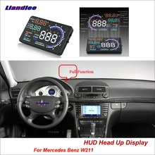 Liandlee Car Head Up Display HUD For Mercedes Benz W211 2016-2018 Safe Driving Screen OBD II Speedometer Projector Windshield