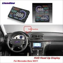 купить Liandlee Car Head Up Display HUD For Mercedes Benz W211 2016-2018 Safe Driving Screen OBD II Speedometer Projector Windshield дешево
