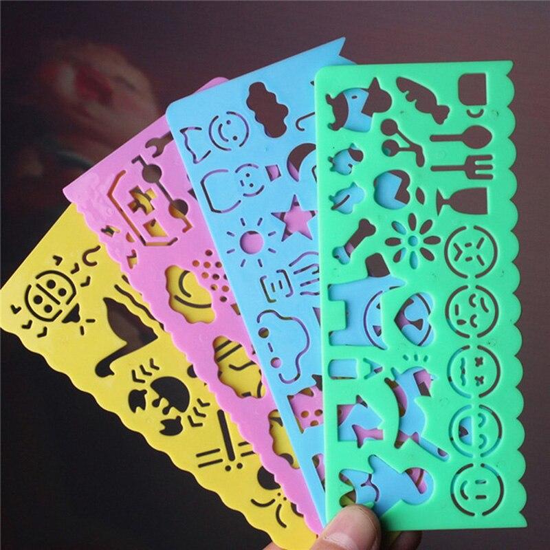 4pcs Candy Color Cute Art Graphics Symbols Drawing