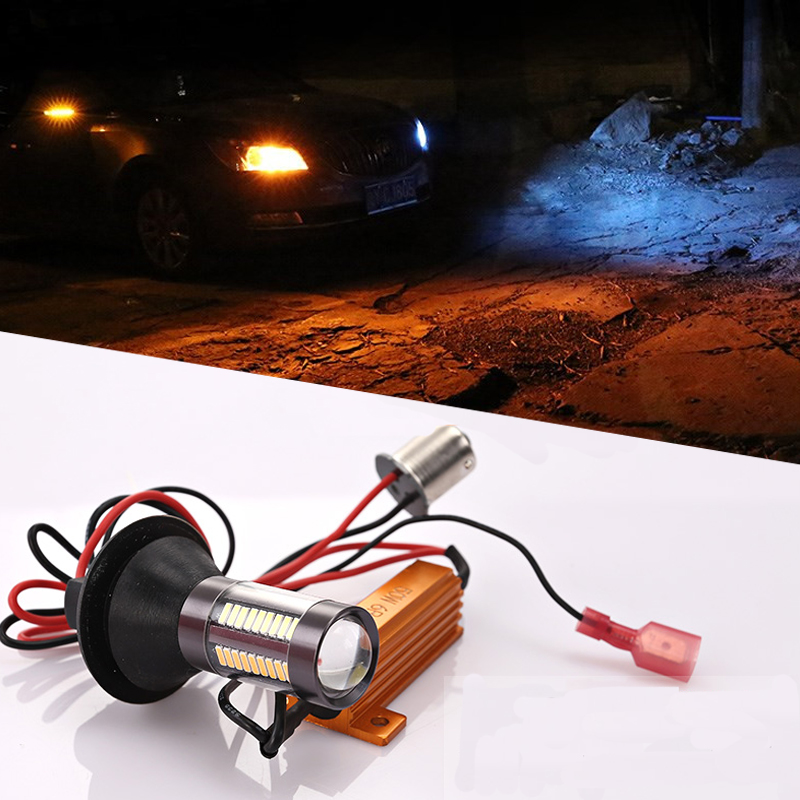Car modification LED highlight turn signal