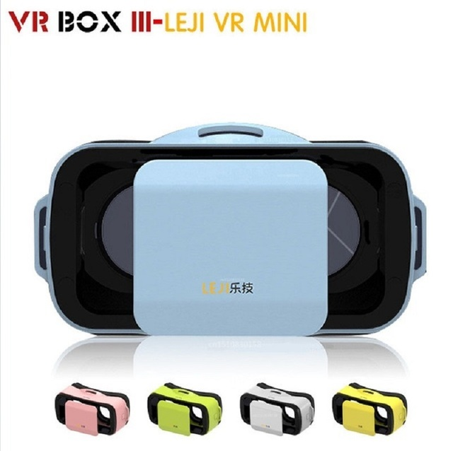 "Original Google Cardboard VR BOX III 3.0 Mini LEJI VR Virtual Reality 3D Glasses For 4.5""-5.5"" Smartphone + Bluetooth Gamepad"