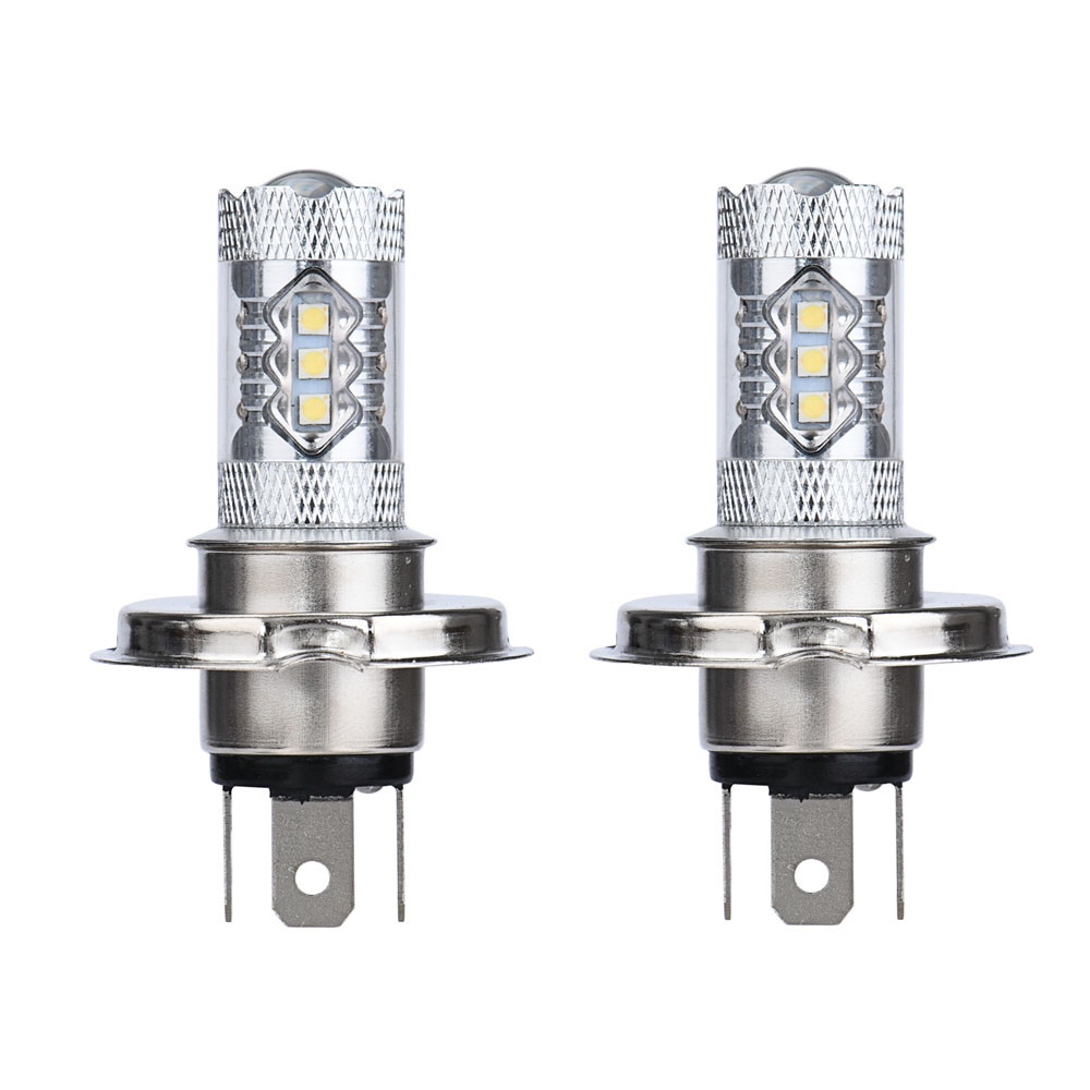 Franchise 2PCS 80W White H4 9003 HB2 LED Fog Light Bulb 1500LM High Low Beam Headlight 900LM DC 8V-30V low power high lighting #Franchise 2PCS 80W White H4 9003 HB2 LED Fog Light Bulb 1500LM High Low Beam Headlight 900LM DC 8V-30V low power high lighting #