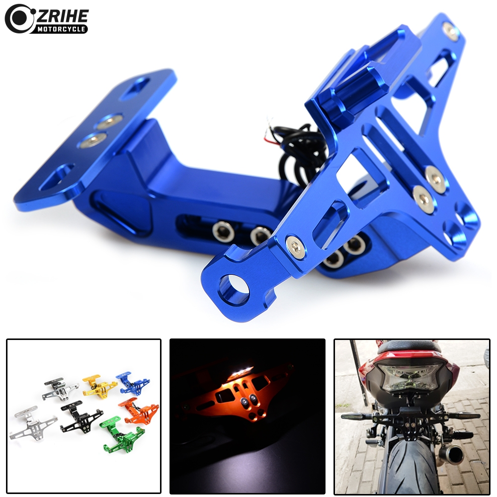 Motorcycle Registration License Plate Bracket Holder with light for plate For Yamaha yzf fz6 xj6 fazer FZ1 FZS 600 R3 R25 R1 цены