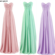 PTH72#new spring summer nude pink mint green Long bridesmaids dresses tube top wedding Party prom dress 2019 wholesale custom