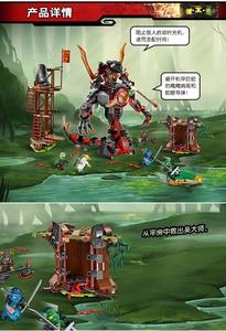 Image 5 - Bela 734 figuras del amanecer de Iron Doom Ninja, conjunto de Mini figuras compatibles con Ninjagoes 10583, Juguetes de bloques de construcción para niños, 70626
