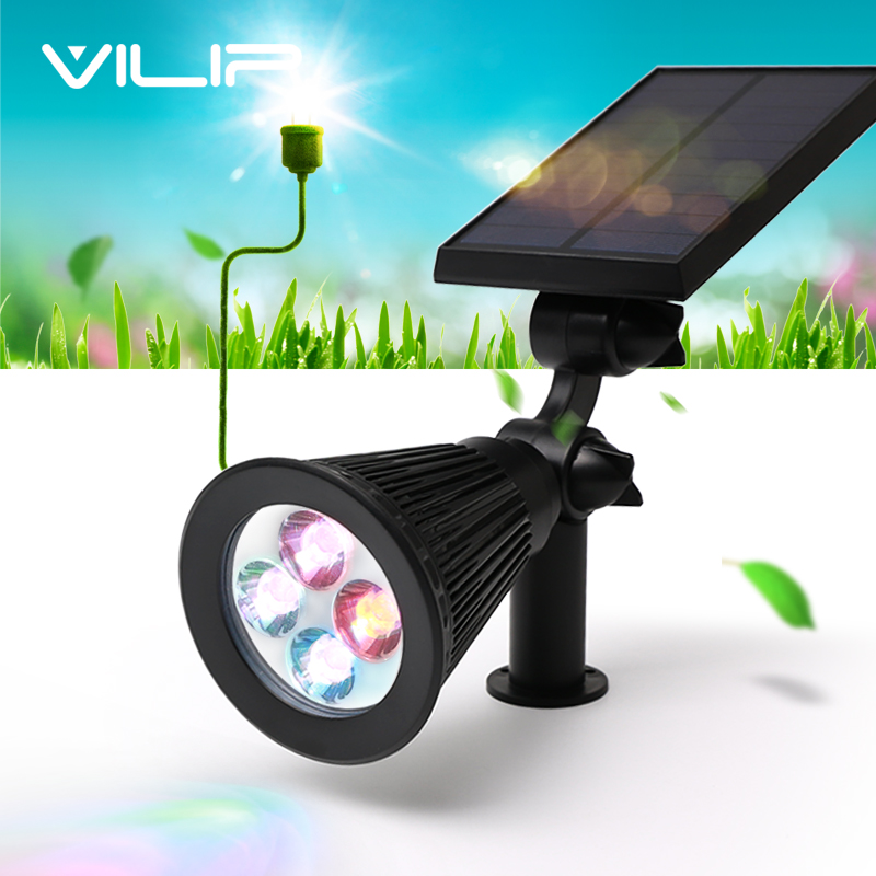 Led Outdoor Landscaping Solar Light Garden Solar Panel