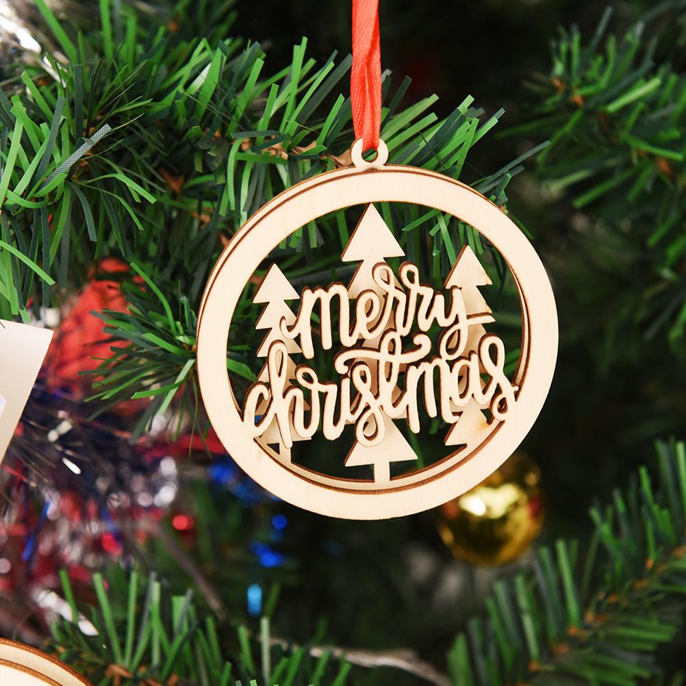 Decorador de arboles de navidad 187 home design 2017 - 3 Unids De Madera Del Rbol De Navidad Decoraci N Colgante Adornos Artesanales Adornos De Navidad