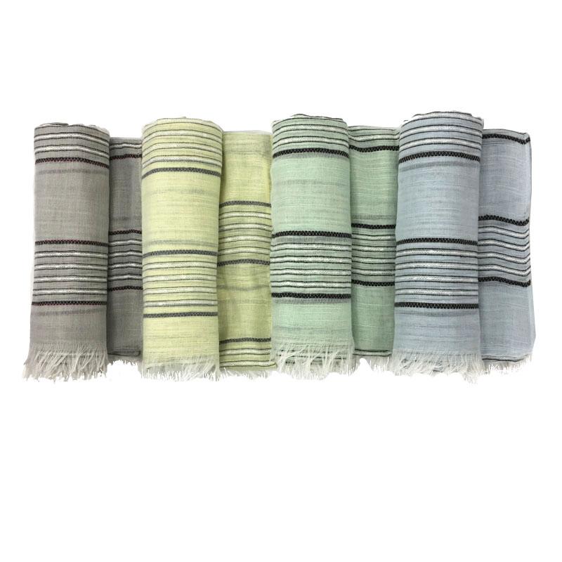 Light Pastel Striped Scarves | Blanket Scarves