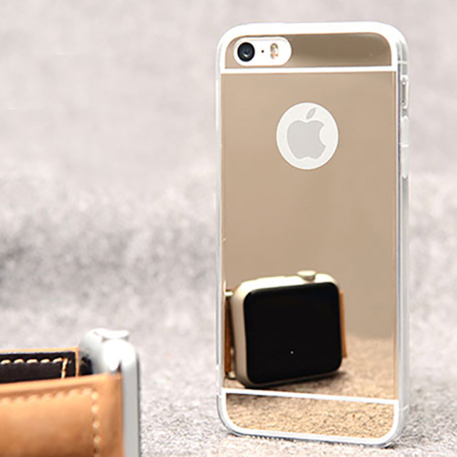Dreamysow роскоши зеркало чехол для iPhone X Xs Max Xr 6 6 S 7 8 плюс 5 5S SE Ясно Мягкий ТПУ чехол + акрил задняя обложки