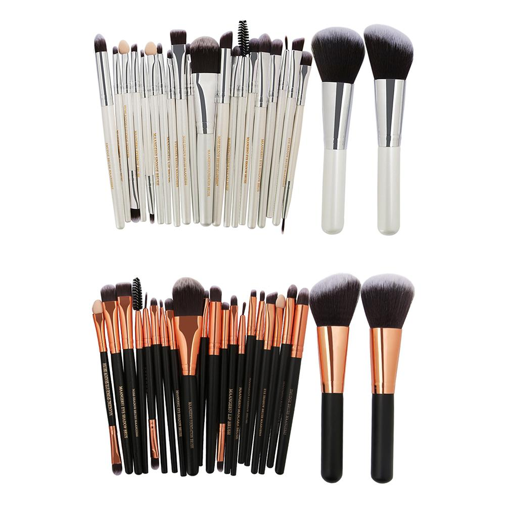 Pro 22Pcs Cosmetic Black Makeup Brushes Set Bulsh Powder Foundation Eyeshadow Eyeliner Lip Make up Brush Beauty Tools Maquiagem