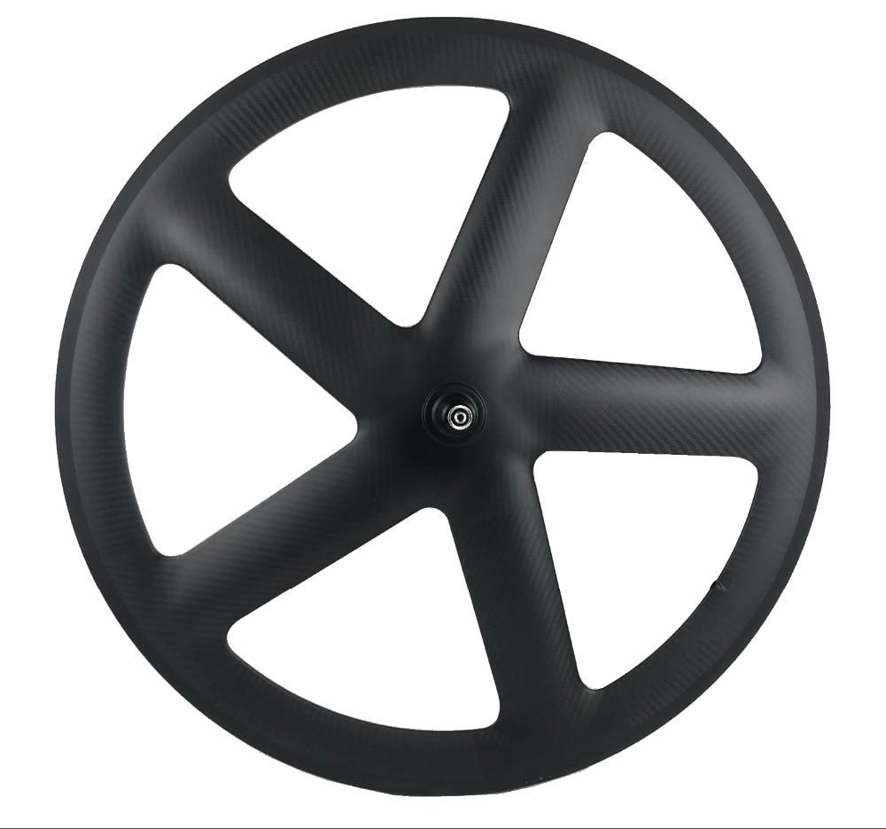 700C Full Carbon 5 Spokes Clincher Tubular Wheels Five spoke carbon wheelset for Track Road Bike