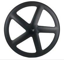 700C Full Carbon 5 Spaken Clincher/Buisvormige Wielen Vijfspaaks Carbon Wielset Voor Track/Racefiets Ud /3K Matte Afwerking