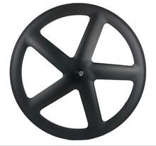 700C Full Carbon 5 Spokes Clincher/Tubular Wheels Five spoke carbon wheelset for Track/ Road Bike UD/3K matte finish