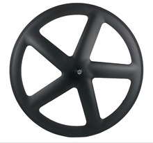 700c carbono completo 5 raios clincher/rodas tubulares de cinco raios rodado de carbono para trilha/bicicleta de estrada ud/3 k acabamento fosco